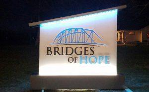 Bridges of Hope Architectural Sign