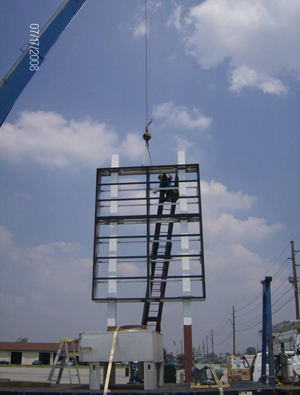 retail signage installation
