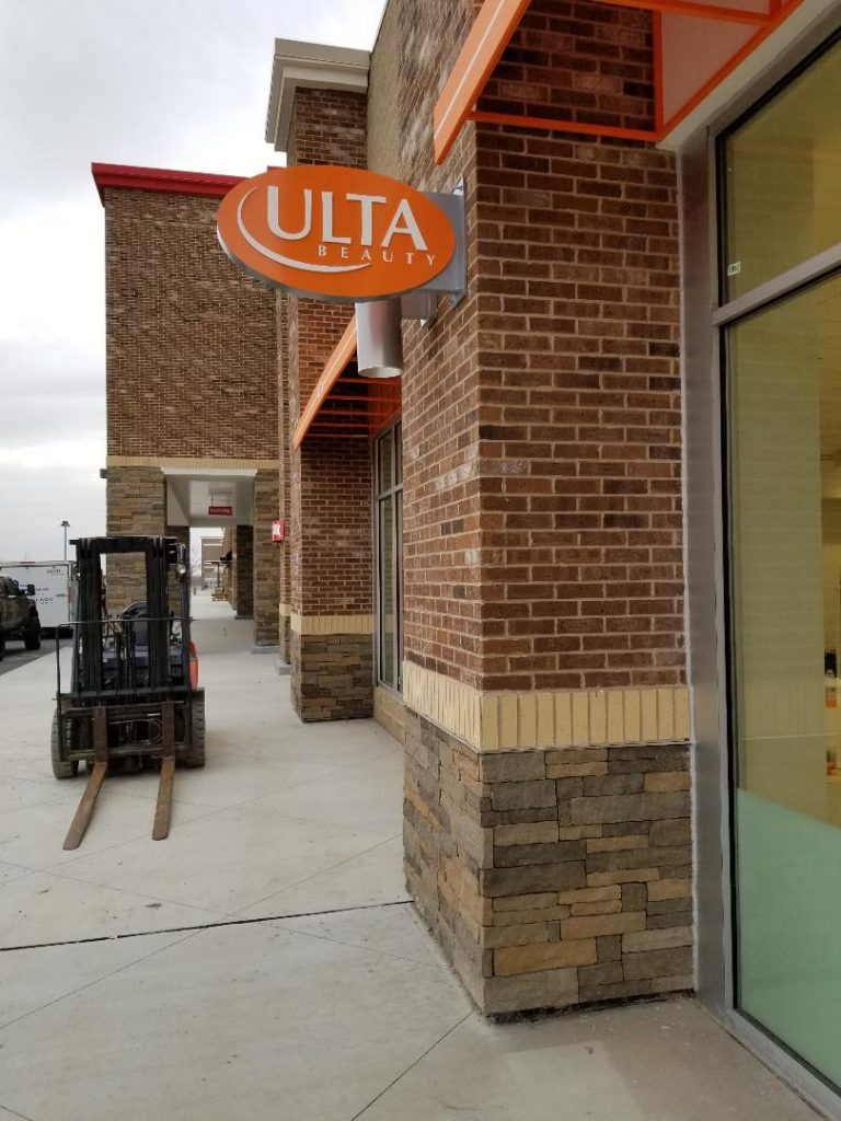Ulta Beauty blade sign whitestown