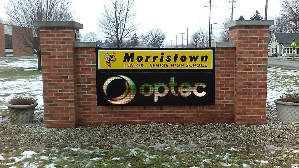 Morristown High School digital led sign monument